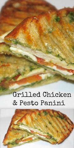 This Grilled Chicken & Pesto Panini made with panella Italian bread on my indoor griddle is one of my family's favorite weeknight meals. Grilled Chicken & Pesto Panini - Grilled Chicken Panini with Classic Pesto Sandwiches For Lunch, Soup And Sandwich, Wrap Sandwiches, Panini Sandwiches, Healthy Sandwiches, Breakfast Sandwiches, Panini Bread, Breakfast Panini, Sandwich Melts