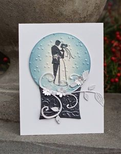 TLC356 Wedding Snow Globe by Arizona Maine - Cards and Paper Crafts at Splitcoaststampers