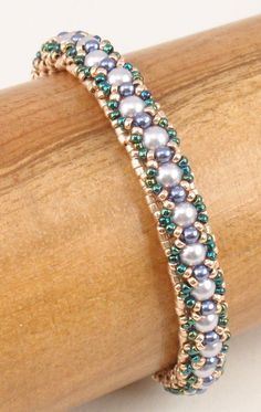 Instructions for Tea Time Bracelet Beading Tutorial by njdesigns1