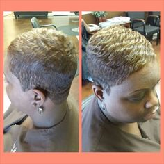 #wrapstylingsalon #sherica Black Pixie Haircut, Short Black Haircuts, Short Relaxed Hairstyles, Chic Short Hair, Short Sassy Hair, Short Haircut Styles, Super Short Hair, Short Straight Hair, Short Styles