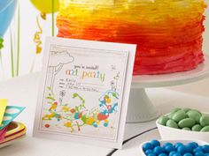 Let everyone know about your colorful party by sending this bright invitation to all your child's friends. Download the invitation here, print, and send!