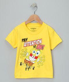 Yellow SpongeBob Tee - Toddler