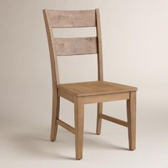 One of my favorite discoveries at WorldMarket.com: Distressed Wood Harrow Dining Chairs, Set of 2