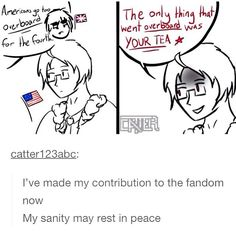 Hetalia America, the 4th of July, and the Boston Tea Party | Tumblr