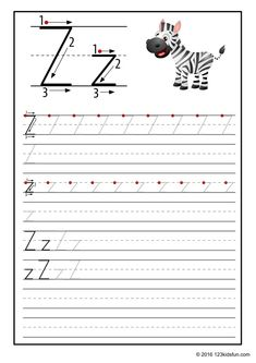 FREE Tracing Worksheet for Kids. Education Craft and Worksheet for PreschoolToddler and Kindergarten. Learn to write the alphabet with 123 Kids Fun. Preschool Number Worksheets, Alphabet Writing Practice, Printable Alphabet Worksheets, 2nd Grade Worksheets, Alphabet Tracing, Tracing Worksheets, Alphabet Book, Worksheets For Kids, Free Printable