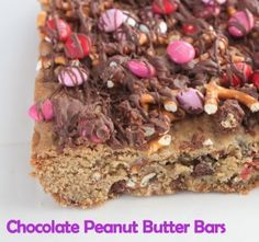 Chocolate peanut butter bars!