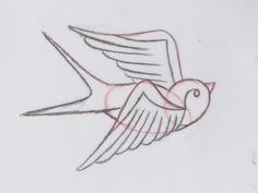 How to Draw a Group of Swallows in a Retro Tattoo Style Traditional Swallow Tattoo, Traditional Tattoo Drawings, Traditional Tattoo Tutorial, Retro Tattoos, Vintage Tattoos, Sparrow Tattoo, Shape Tattoo, Sailor Jerry, Arte Sketchbook