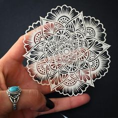 There is beauty in each of our delicate imperfections. Drawn freehand, then hand cut using an exacto knife. This is the tiniest, most intricate paper cut I've ever done. I think I'm getting crazier guys.. #PaperArt #PaperCut #HandCut