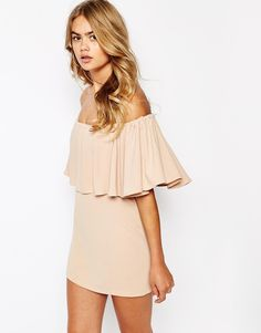 The Laden Showroom X House of Pearl Frill Bandeau Dress