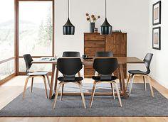 Pike Modern Wood Base Chair - Modern Dining Chairs - Modern Dining Room…