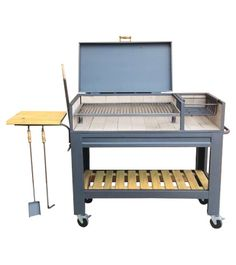 Grill Cart, I Grill, Grill Grates, Kitchen Grill, Backyard Kitchen, Outdoor Kitchen Design, Barbecue Design, Grill Design, Argentina Grill