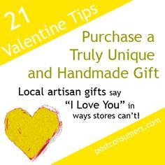 Eco Valentine's Tip: Purchase a Handmade Gift #valentines #valentinesday
