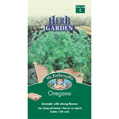 Mr Fothergill's Oregano Herb Seeds | Bunnings Warehouse