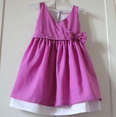 robe de petite fille modèle, rose indien