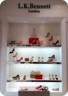 Behold: The Kate Middleton Wall of Shoes at New York's Brand New LK Bennett Store    Read More http://www.glamour.com/fashion/blogs/slaves-to-fashion/2012/04/behold-the-kate-middleton-wall.html#ixzz1rE1Mz0n