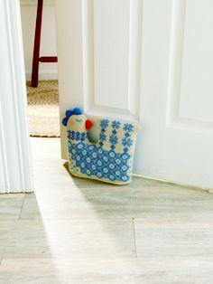 would love to knit this chicken doorstop, from northern knits gifts