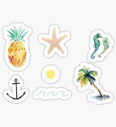 Beachy Tumblr Stickers Sticker