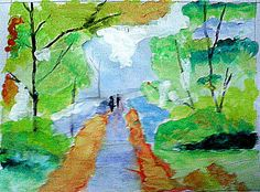 Watercolour painting from meet jani