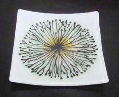 Detail Floral Bursts- Fused Glass