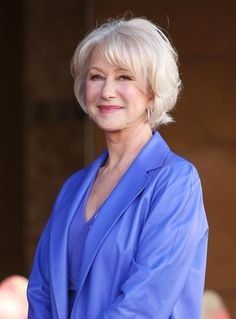 Remember Mirren with long hair? Yeah, neither do we.
