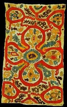 Kaitag, silk embroidery on cotton, Daghestan, Caucasus.