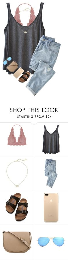 """🥂"" by cjstefan ❤ liked on Polyvore featuring Humble Chic, American Vintage, Kendra Scott, Wrap, Birkenstock, CÉLINE and Ray-Ban"