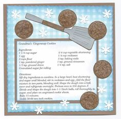 Grandma's Gingersnaps by SybilMcC - Cards and Paper Crafts at Splitcoaststampers