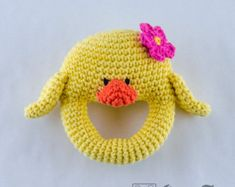 Dog Rattle PDF Crochet Pattern Instant by oneandtwocompany