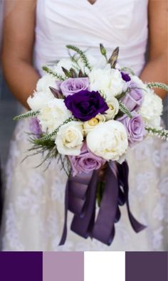Purple and White Wedding Bouquet|Photography: Dana Grant Photography