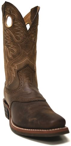 Ariat Men's Heritage Roughstock Leather w/ Saddle Vamp Cowboy Boots