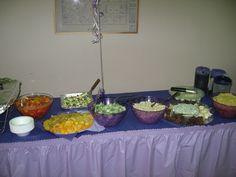 purple table- buffet