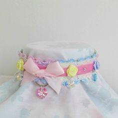 Limited Made To Order Deluxe Cute Magical Swarovski Princess Pastel Rainbow Heart Kawaii D Ring Choker Collar. #cute #kawaii #rainbow #crystal #heart #choker #collar #necklace #harajuku #pastel #pink