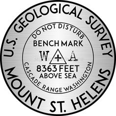 "3/"" Mount Washington USGS Benchmark Sticker Yellowstone National Park Sticker"