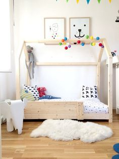 Attachment Php 7501000 In 2019 Diy Toddler Bed Kids . Montessori Floor Bed With Rails Full Or Double Size Floor .