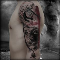 Man in the Wind - Hurricane called Katrina- Tatto by Antonio Orlando- Taurisano, Lecce- Italy