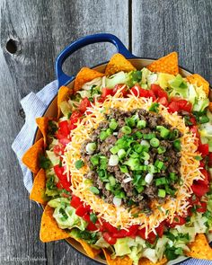 Jessica's Taco Salad with Creamy Taco Dressing from afarmgirlsdabbles.com