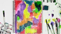 How to let go of control with color in an art journal and just play!