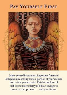 Oracle Card Pay Yourself First | Doreen Virtue - Official Angel Therapy Website