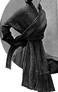 Knitted Stole Pattern
