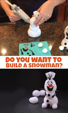 Olaf Sock Snowman Tutorial - One Creative Mommy {Crafts, DIY, & Recipes} - Do you want to build a snowman? With Frozen II soon to hit the box office, Olaf is sure to be in de - Kids Crafts, Sock Crafts, Christmas Crafts For Kids, Christmas Fun, Holiday Crafts, Kids Winter Crafts, Disney Crafts For Kids, Handmade Christmas Crafts, Summer Crafts