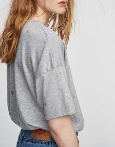 Shiny stars t-shirt - What's new - Clothing - Woman - PULL&BEAR Denmark