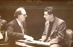 Messiaen & Bernstein rehearsing Turangalila, Dec 1949. © Yvonne Loriod-Messiaen
