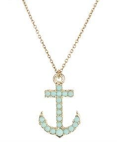 Cute anchor necklace.