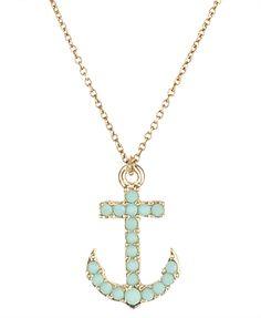 opaque anchor necklace