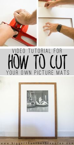 How To Cut Your Own Picture Mats - Bigger Than the Three of Us