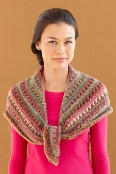 Rosy Glen Shawl.  Beautiful in 'Amazing' yarn, but I'd like to try it in a solid color, too.