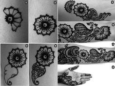 How apply henna design step by step tutorial