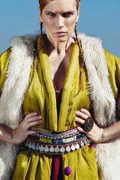Photos : Vasilis Topouslidis  Styling : Klea Kokalari  Make Up : Elina Trantou  Hair Style : Archontopoulos Dimitris  Model : Evelina Monika Paruzel (Ace Models)  Clothes : JUJU de KOKIMO  Belt : Panos Apergis  Ring :Artwear Dimitriadis