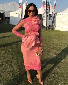 AfroFashionStyle: Magnificent Aso-ebi Lace Styles For Weddings 2018 Aso Ebi Lace Styles, Lace Dress Styles, African Lace Dresses, African Fashion Dresses, African Attire, African Wear, African Style, Look Fashion, Fashion Outfits
