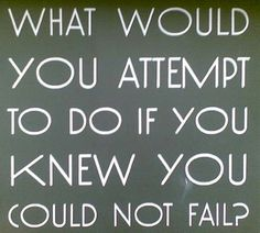 what would you do if you weren't afraid to fail - Google Search